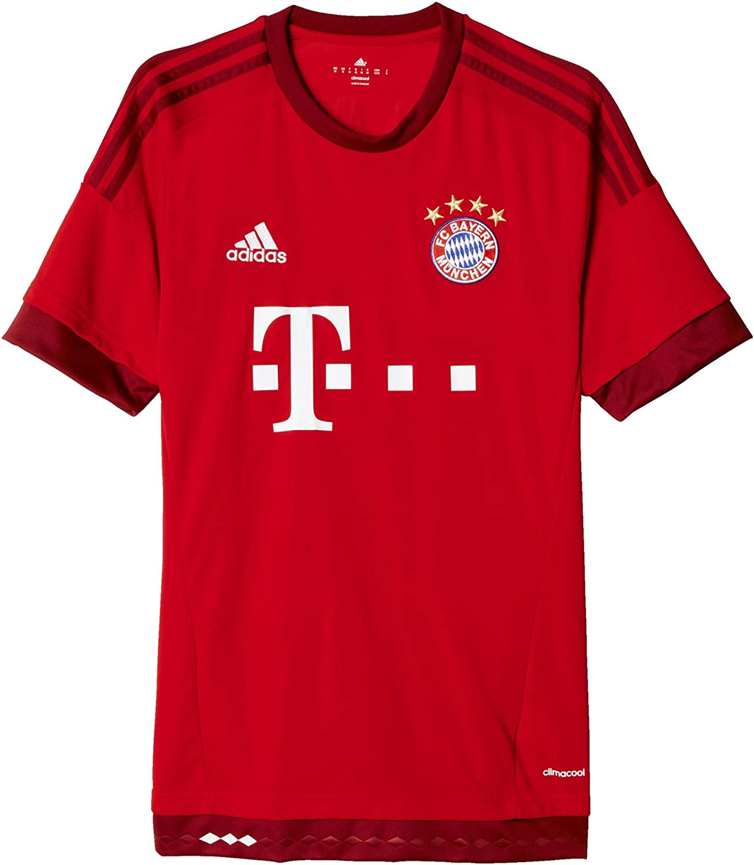 Amazon.com: FC Bayern Munich Home Adult Soccer Jersey (Red ...