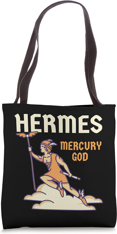 Hermes God Greek Mythology - Mercury God Zeus Son Tote Bag