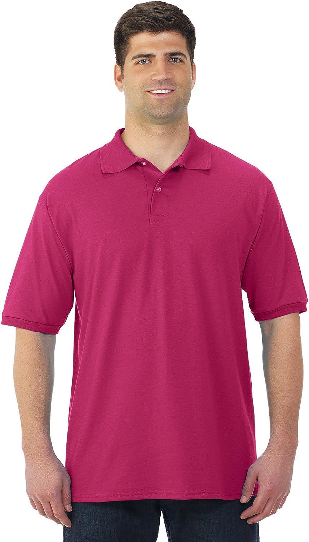 Jerzees Mens SpotShield Short Nippon regular agency Ranking TOP17 Sleeve JZ437MS Shirt Jersey Sport