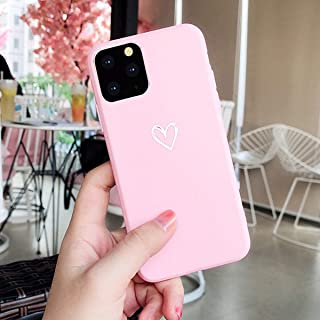 Topwin iPhone 11 Pro Max 6.5'' 2019 Soft TPU Case, Cute Matter Love Heart Pattern Ultra Slim Couple Case for Lovers Flexible Light Weight TPU Protective for Apple iPhone 11 Pro Max 6.5'' 2019 (Pink)