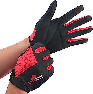 LuxoBike MTB Gloves Mountain Bike Gloves for Men Biking Gloves Women – Cycling Gloves with Antiskid Shock Absorbing Pad – ...