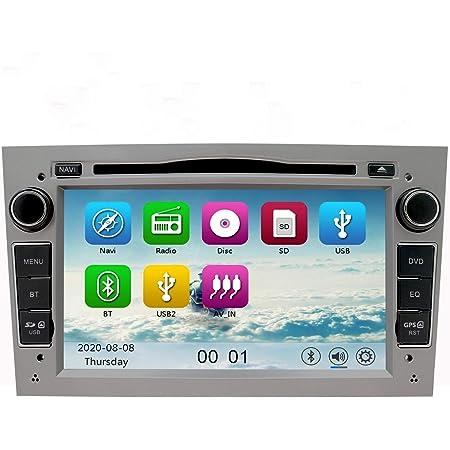 Nvgotev Auto Audio Stereo Kopfeinheit Passt Für Opel Vauxhall Dvd Player 7 Zoll Hd Touchscreen Gps Navigation Mit Bt Lenkradsteuerung Grau Navigation