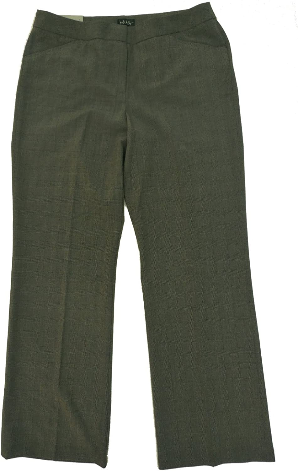 Nicole Miller Womens Essential Easy Care Pant 6 Dark Charcoal Heather