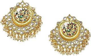 Zaveri Pearls Peacock Inspired Kundan Dangle Earring For Women-ZPFK7620