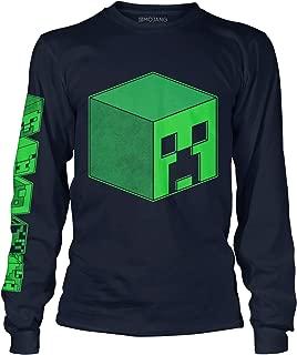 JINX Minecraft Overworld Creeper Cube Dudes Boys' Long-Sleeve Tee Shirt