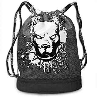 GymSack Drawstring Bag Sackpack Pitbull Sport Cinch Pack Simple Bundle Pocke Backpack For Men Women