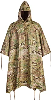 ACT FIRE Military Army Tactical Poncho W/P20000mm Military Grade Waterproof Material