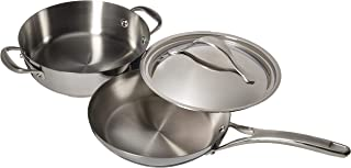 Anolon Nouvelle Copper 3 Piece Stainless Steel and Copper Cookware Set