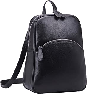Heshe Women's Casual Leather Backpack Daypack for Ladies