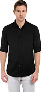 Dennis Lingo Men's Solid Slim Fit Casual Shirt