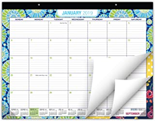 """Desk Calendar 2019: Large Monthly Pages - 22""""x17"""" - Runs from Now Through December 2019 - Desk/Wall Calendar can be Used Throughout 2019."""