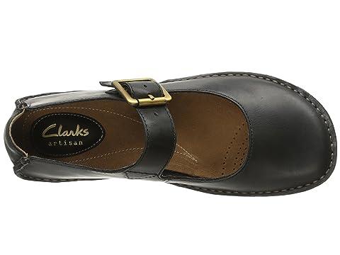 Leather Clarks Janey Beeswax LeatherBlack June CYnqnaxwSX