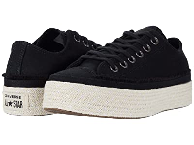 Converse Chuck Taylor All Star Espadrille Ox (Black/White/Natural) Women