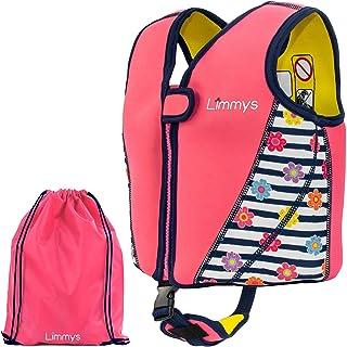 Limmys Premium Neoprene Swim Vest for Children, Ideal Buoyancy Swimming Aid for Girls, BONUS Drawstring Bag Included