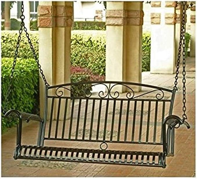 International Caravan Iron Tropico Swing - The Best Iron Patio Swing