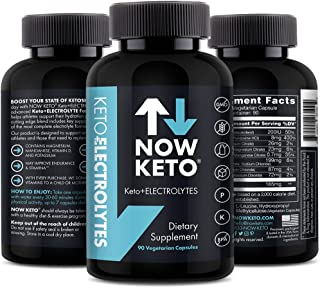 Keto Plus Electrolytes Replacement Tablets for Fast Hydration | Magnesium, Potassium, Sodium, Calcium, Vitamin D, Vitamin B | Keto Diet Friendly | 90 Vegetarian Capsules