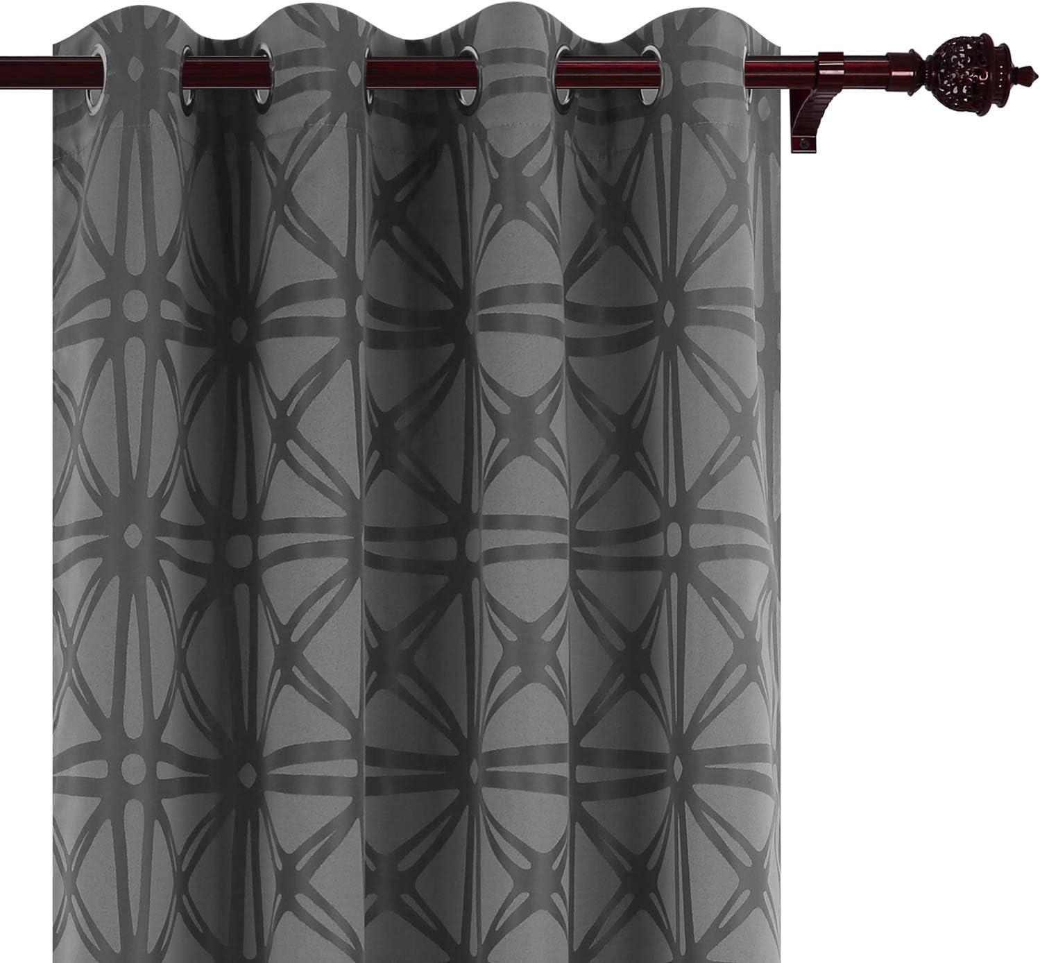 全国一律送料無料 Deconovo Room Darkening Curtains Wind Thermal 完全送料無料 Insulated Jacquard