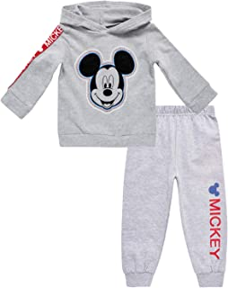 Disney Baby Boys' Mickey Mouse Hoodie Fleece & Jogger 2-Piece Pant Set (Newborn/Infant)