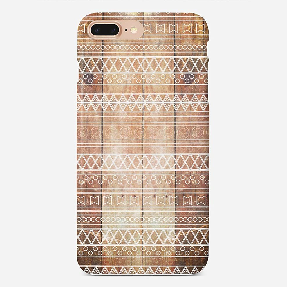 JIUYHG Compatible with iPhone 7 plus / 8 plus Vintage Aztec Tribal Wood Carved Maple Super Slim Back Cover Hard Plastic Protector Case Stylish Design for Apple iPhone 7 plus / 8 plus 5.5 inch cuuntaduc9974