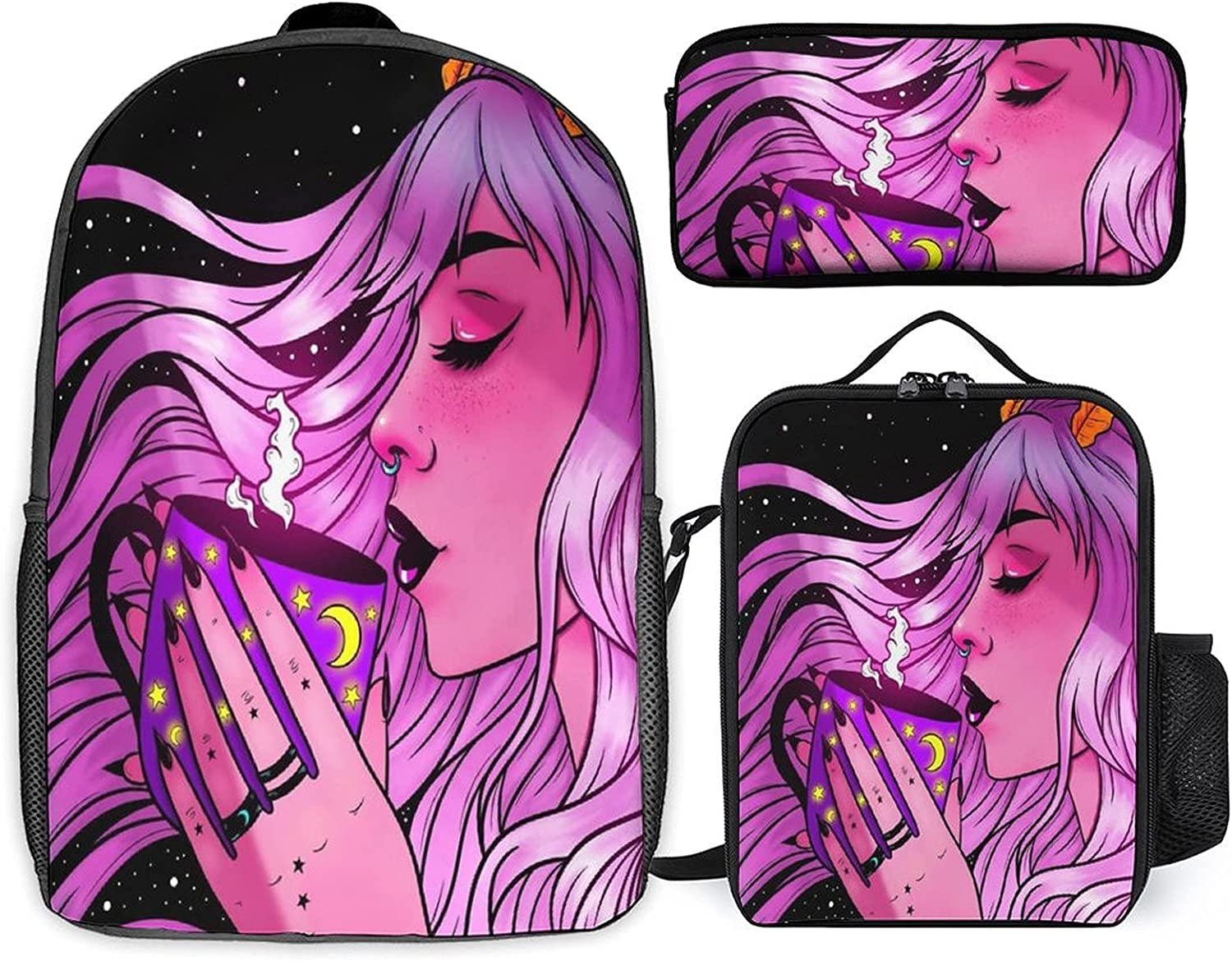 Stoner Art Three-piece Sale Recommended SALE% OFF set of st + schoolbag student
