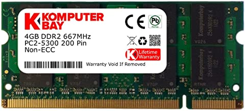 Komputerbay 4GB DDR2 SODIMM (200 pin) 667Mhz PC2-5400 / PC2-5300 CL 5.0 1.8v Unbuffered NON-ECC DDR2-667 Memory Module
