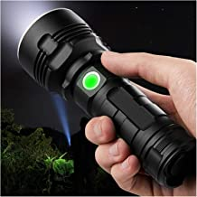 RuipuFire XLM-P70 Ultra Bright Flashlight Powerful Dimming Telescopic no Zoom Waterproof Rechargeable Torch (Body Color : ...