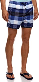 5cb5cd0f5712c oodji Ultra Homme Short de Bain à Carreaux