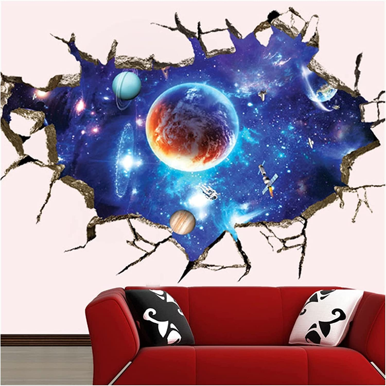 Free Shipping New DEYUCHANG Cracked Space Planet Wall O Max 89% OFF 3D Removable Sticker World