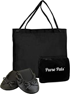Purse Pals Foldable Travel Ballet Flats for Women with Compact Carrying Tote Bag | Proudly Designed, Packaged and Sold in The U.S.A