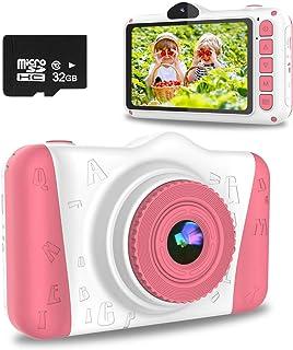 WOWGO Appareil Photo pour Enfants,Appareil Photo Numérique pour Enfants avec écran de 3.5 Pouces/12MP/1080P HD/Double Obje...