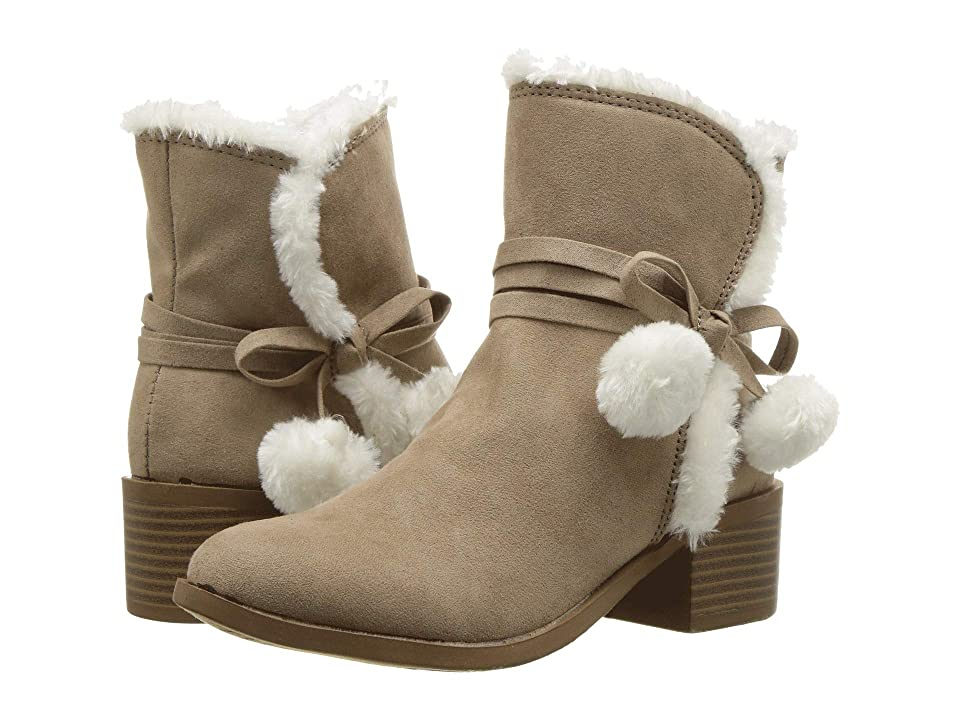 Nine West Kids Cyndees Mid (Little Kid/Big Kid) (Taupe Microfiber/Faux Fur) Girls Shoes
