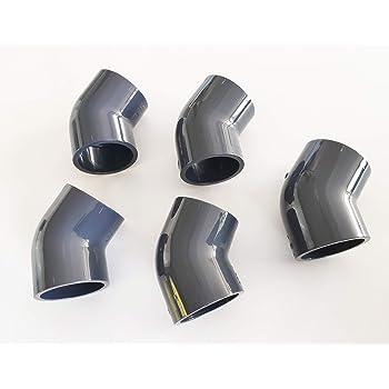 well2wellness Angle Coude Raccord en PVC 45 /° 50 mm accessoire pour tuyaux