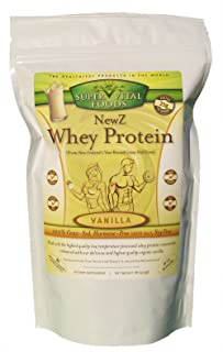 NewZ Whey Protein Vanilla 1LB - 100% Grass Fed New Zealand Whey - Low Temperature Processed