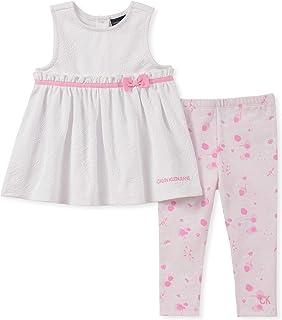 Calvin Klein Baby Girls 2 Pieces Legging Set Pants