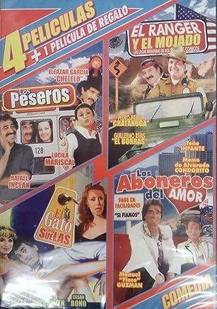 4 Peliculas De Comedia: Los Peseros, Los Ranger Y Los Mojados, El Gato
