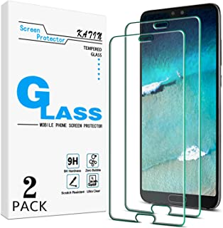 [2-Pack] KATIN For Huawei P20 Pro Tempered Glass Screen Protector No-Bubble, 9H Hardness, Easy to Install