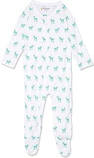 Petit Bamboo Baby Body Suit, Deer Green