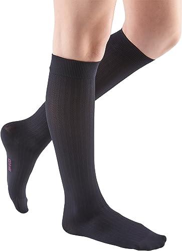 mediven vitality compression socks 15-20 calf closed toe ebony by Mediven