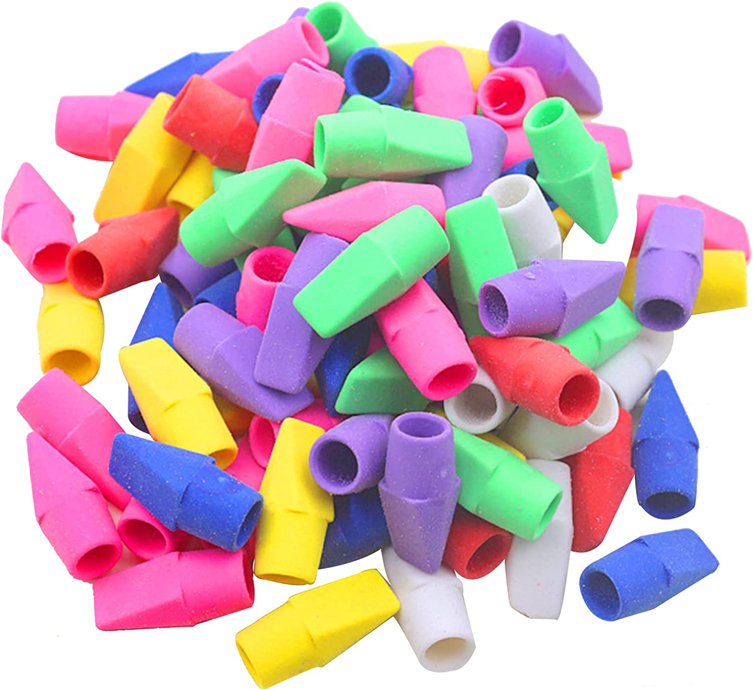 200pcs Pencil Top Super beauty product restock quality top Very popular! Erasers Set Colored Cap Replacement Er