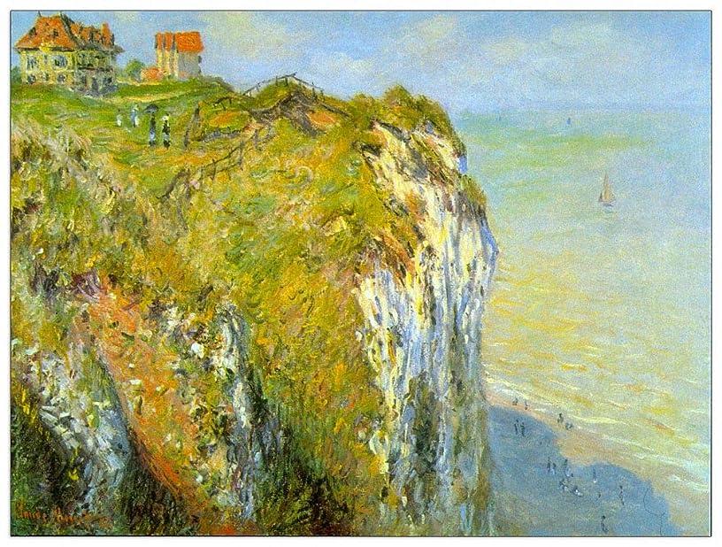ArtPlaza TW91727 Monet Claude - Cliffs Decorative Panel 51x39.5 Inch Multicolored