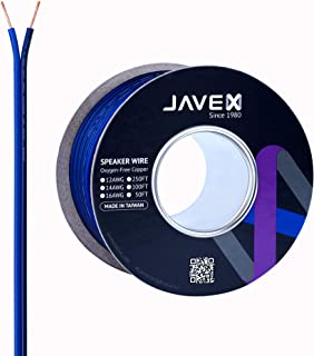 16-Gauge AWG JAVEX Speaker Wire OFC Oxygen-Free Copper 99.9% Cable for Hi-Fi Systems, Mixer, Amplifiers, AV receivers, Hom...