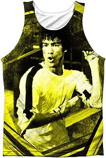 Bruce Lee Men's Stripes Mens Tank White