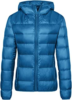 Women's Hooded Packable Down Jacket Lightweight Insulated Winter Coat