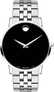 1bfc4277f Movado Men's Museum Stainless Steel Watch with Concave Dot Museum Dial,  Silver/Black (