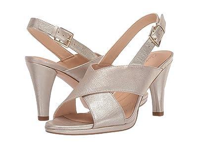 Clarks Dalia Lotus (Champagne Metallic) High Heels