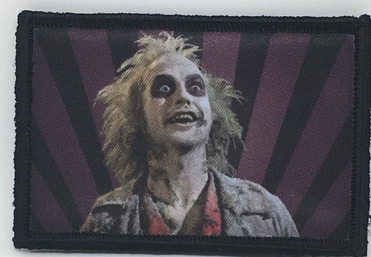Micheal Keaton Beetlejuice Morale Funny Tactical Patch Military. 2021 spring and summer new Selling and selling