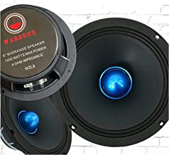 $89 » 2X Gravity WZL8 8″ Midrange Bullet Loud Speaker 1000 Watts Peak Power Handling 4 Ohm Impedance 106 dB Sensitivity Car Audi...