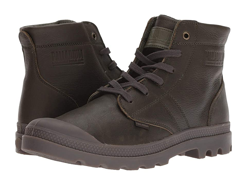 Palladium Pallabrousse Leather (Olive Night/Dark Gum) Men