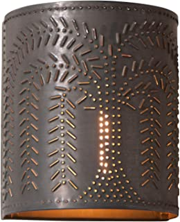 Willow Sconce Light in Blackened Tin, wired