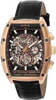 [ゾンネ]SONNE 腕時計 H018 ブラック文字盤 自動巻き H018PG-BK メンズ